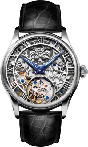 Memorigin Orbit Series - Skeleton Lady Watch Silber