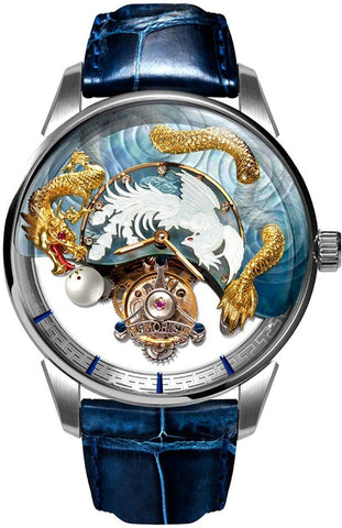 Memorigin The Harmony of Dragon and Phoenix Watch Silber