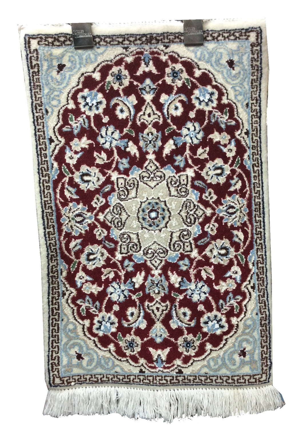 Nain Red Hand-Knotted Rug