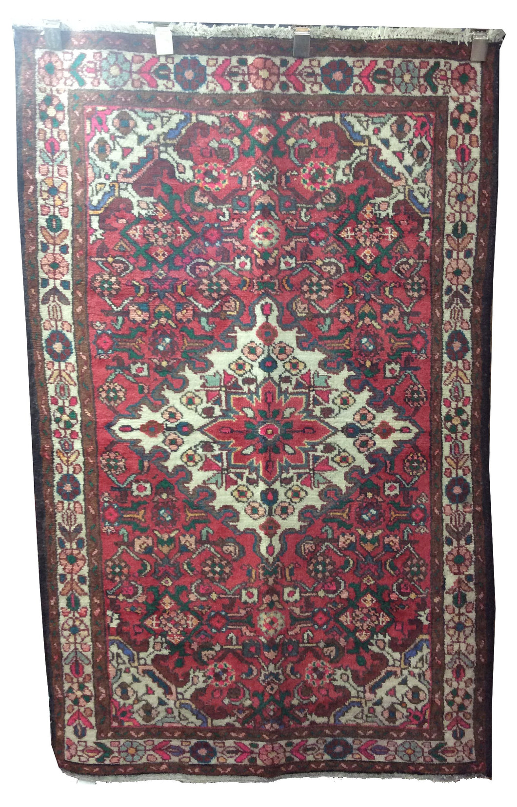 Tafresh Tribal Rust Red Hand-Knotted Rug
