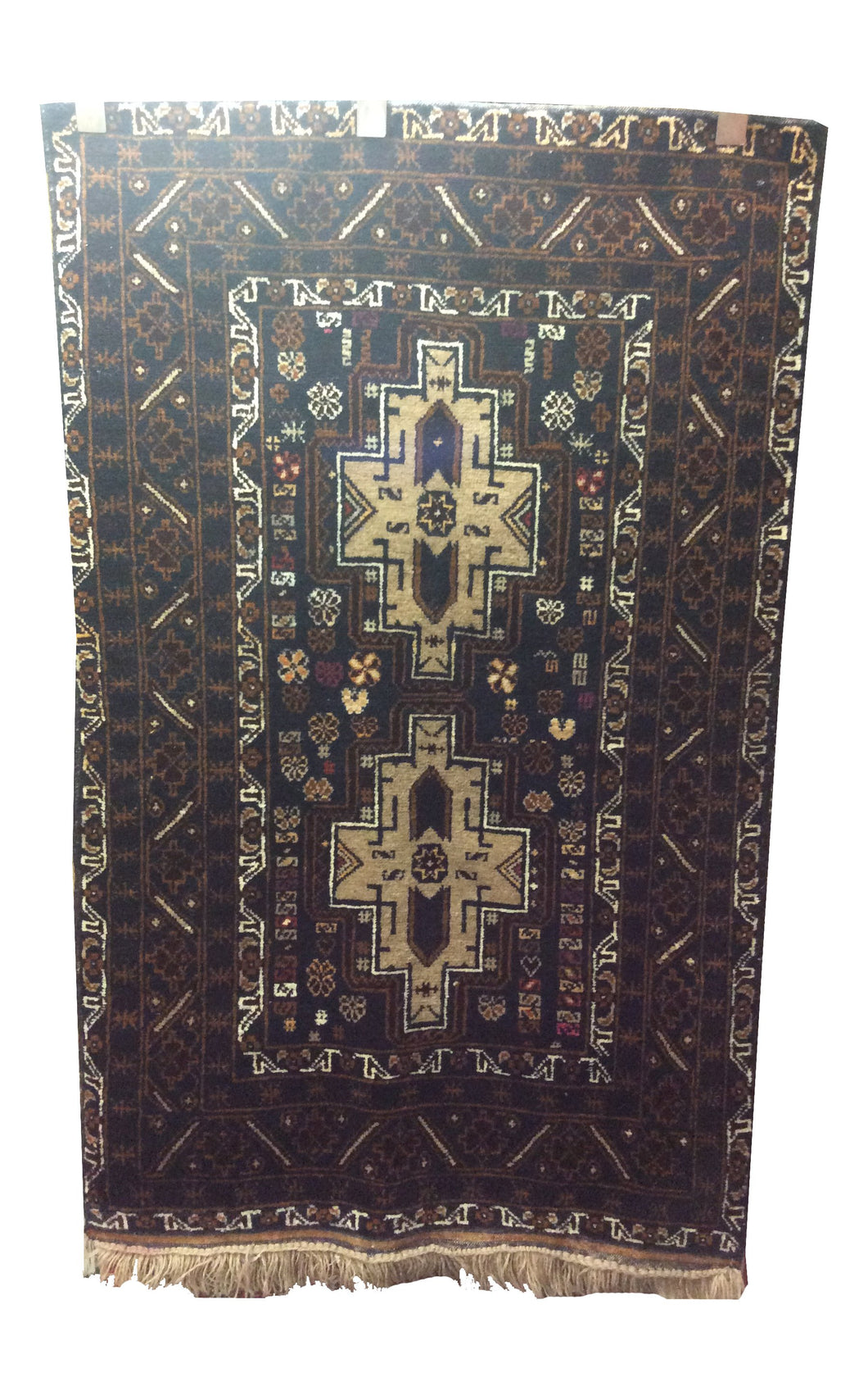 Afghan Tribal Blue Hand-Knotted Rug - Rug Tycoon