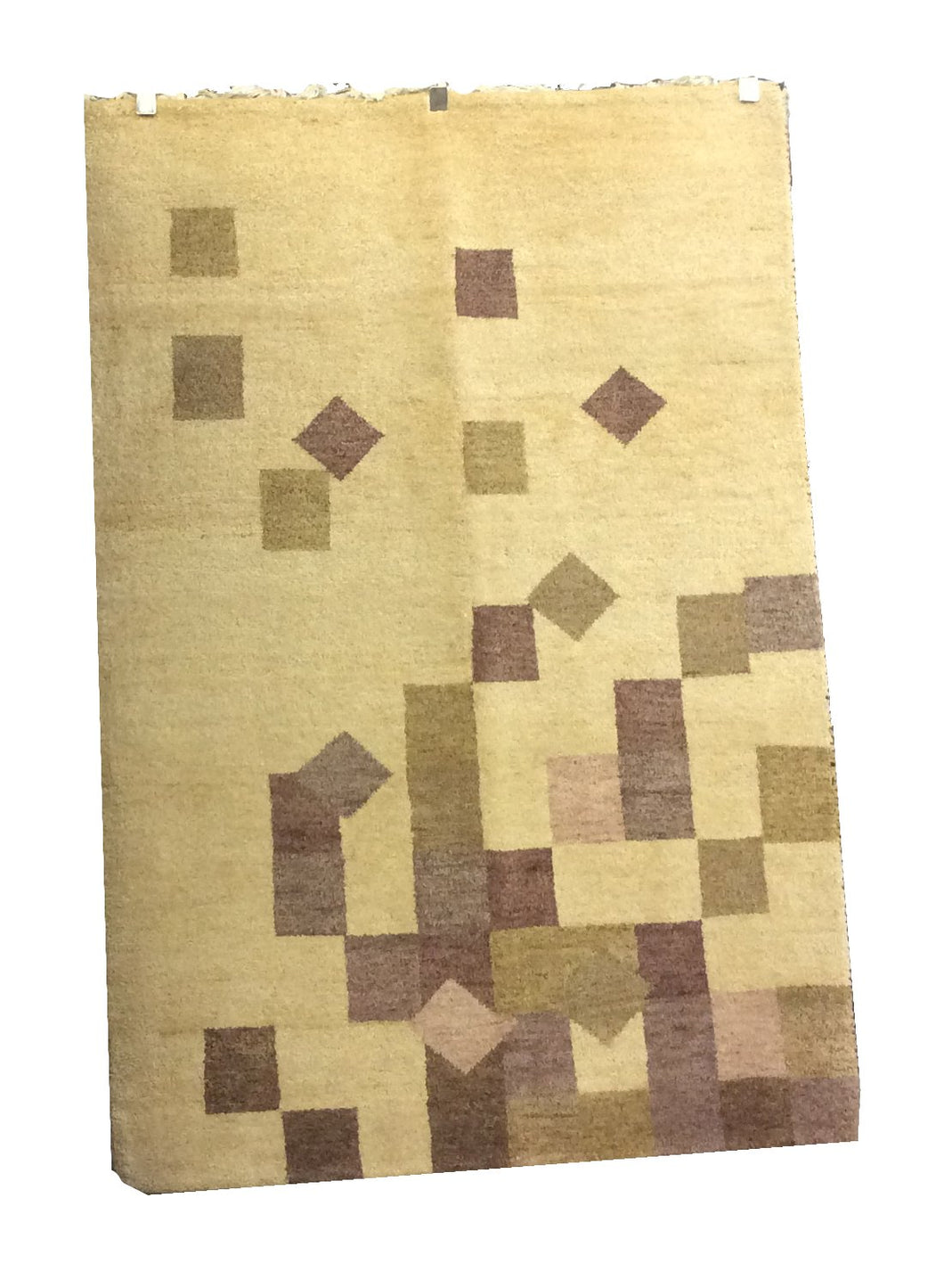 Gabbeh Tan Ivory Hand-Knotted Rug