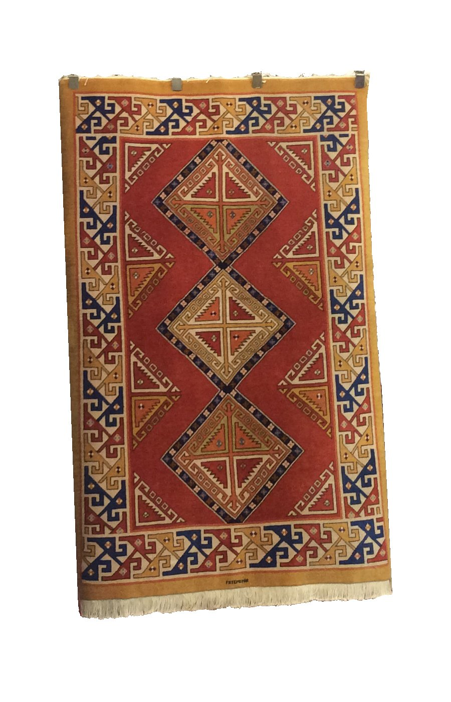 Tabriz Rust Brown Hand-Knotted Rug
