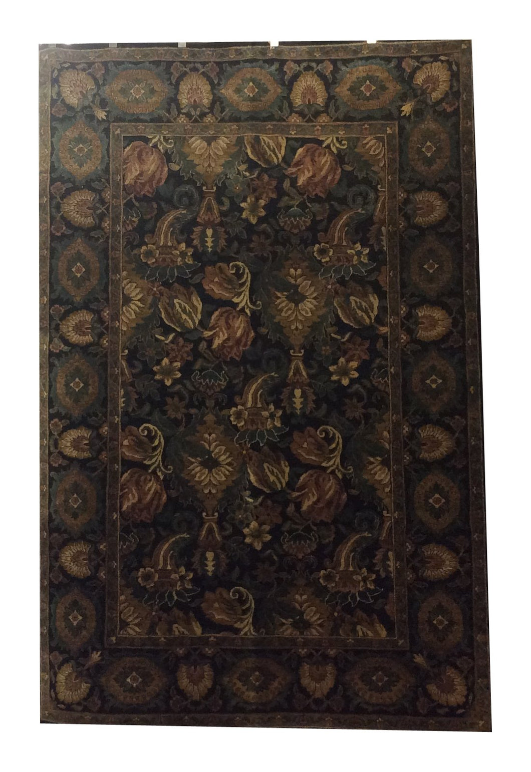 Jaipur Black Green Hand-Knotted Rug