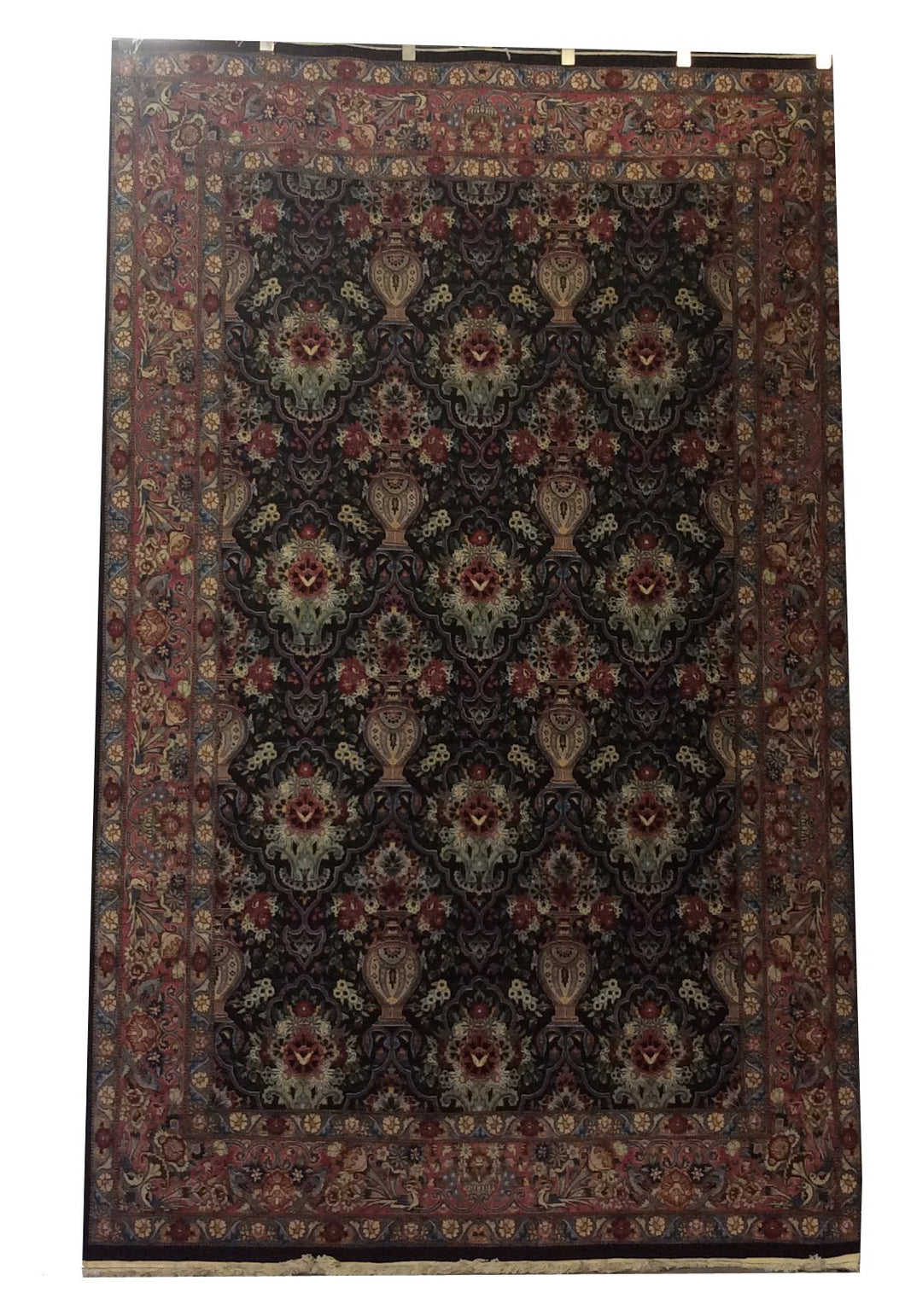 Pak Persian Black Rose Hand-Knotted Rug