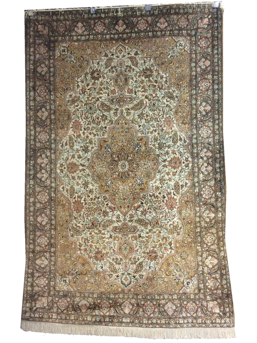 Qum Green Hand-Knotted Rug