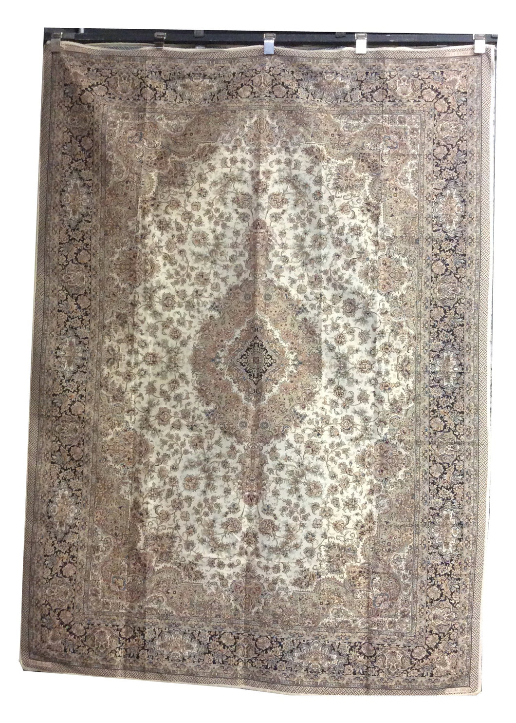 Flat Weave Ivory Hand-Knotted Rug