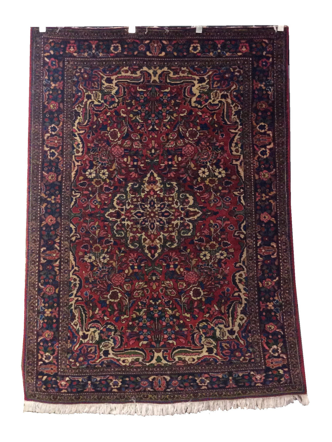 Bakhtiari  Red Navy Hand-Knotted Rug - Rug Tycoon