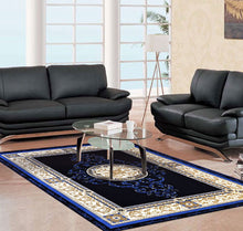 A801 Dark Blue Area Rug