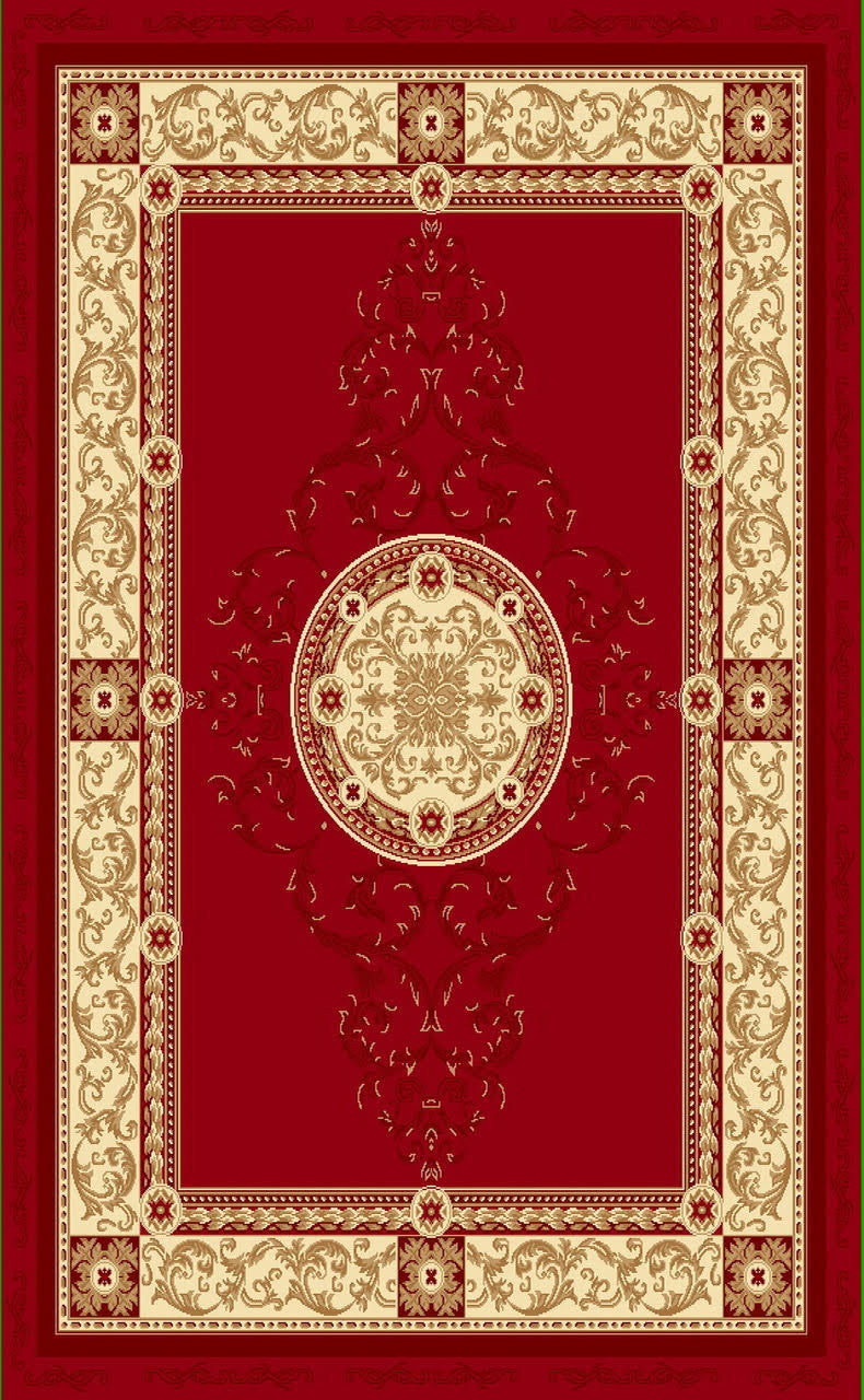 A801 Red Area Rug