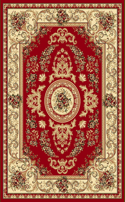 A804 Red Area Rug