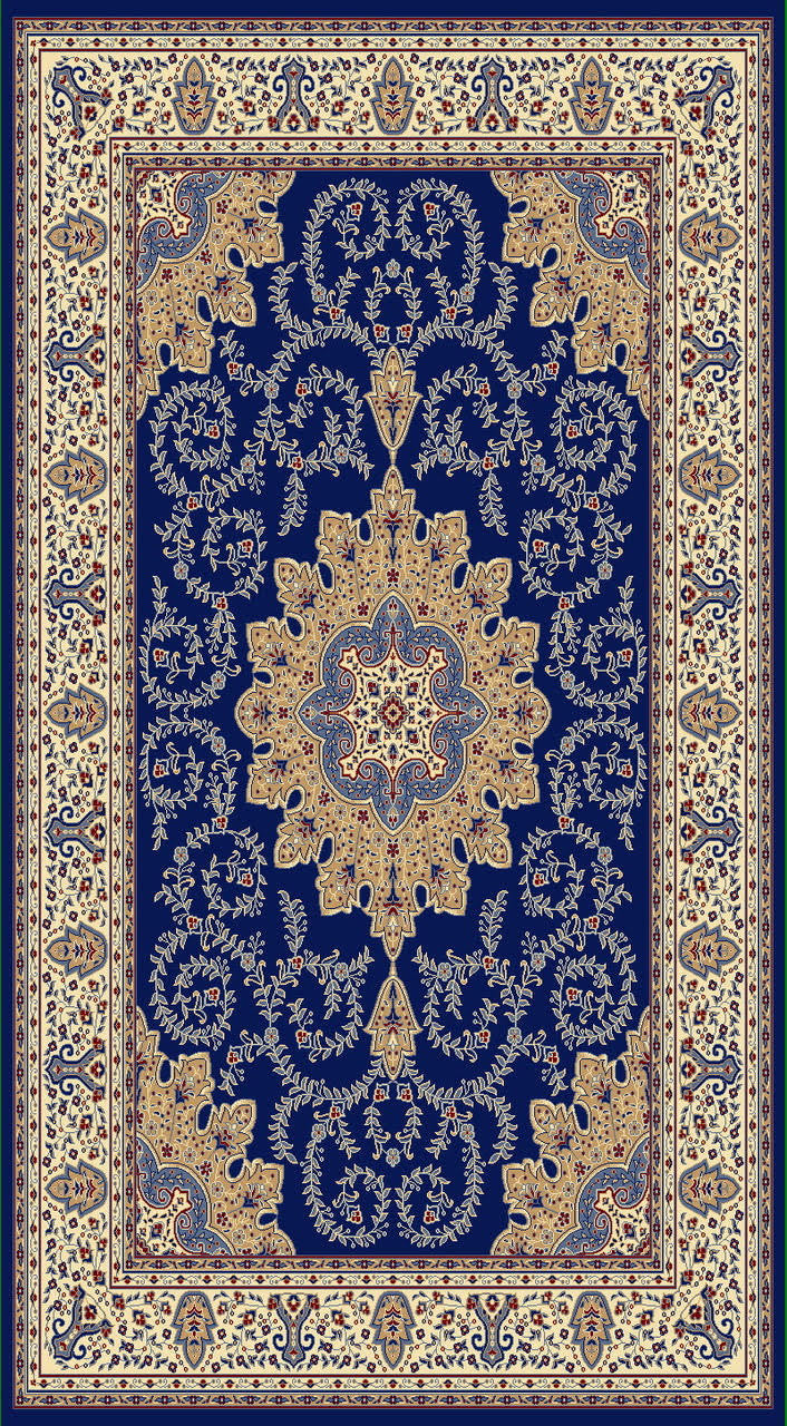 A806 Dark Blue Area Rug
