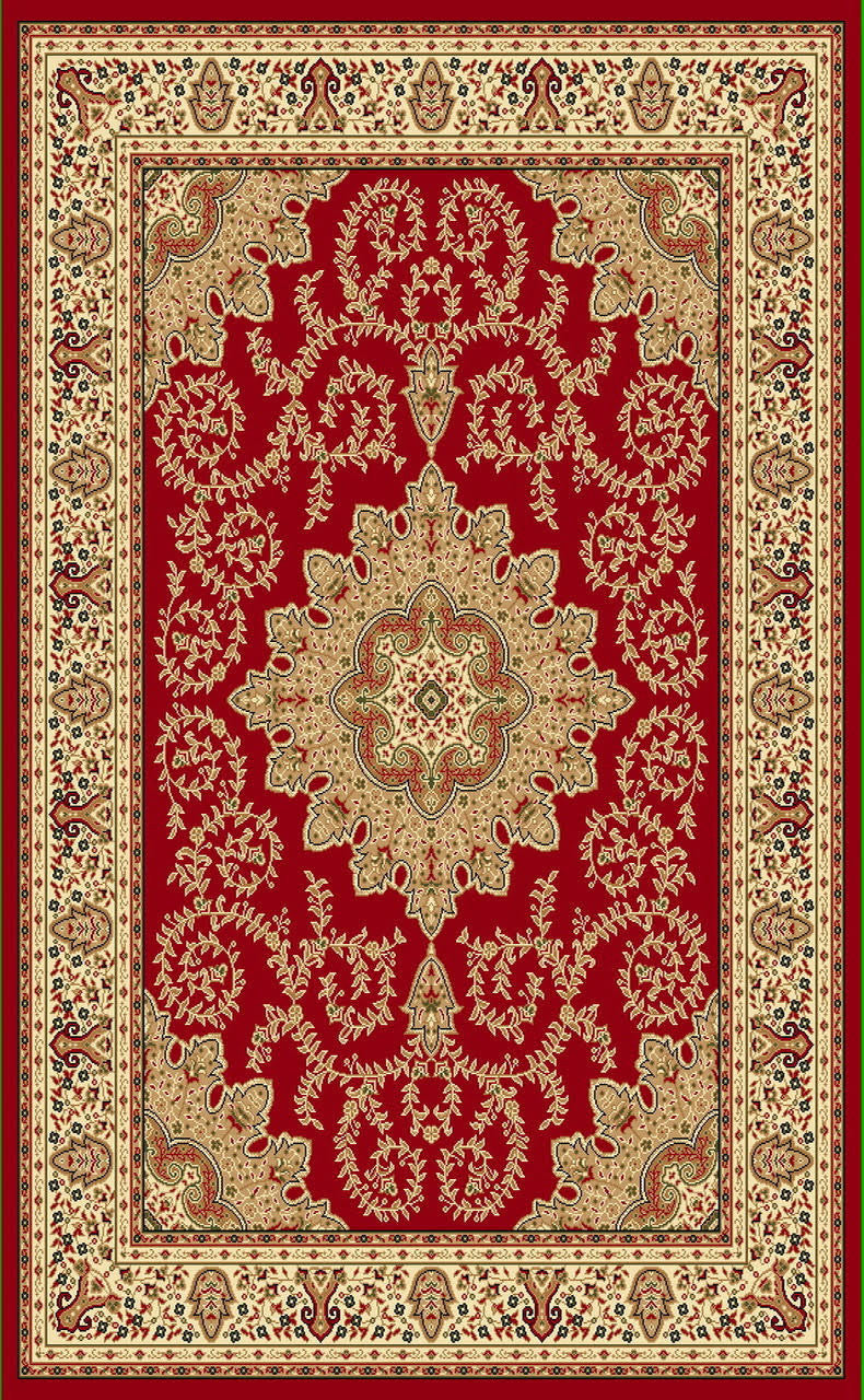 A806 Red Area Rug