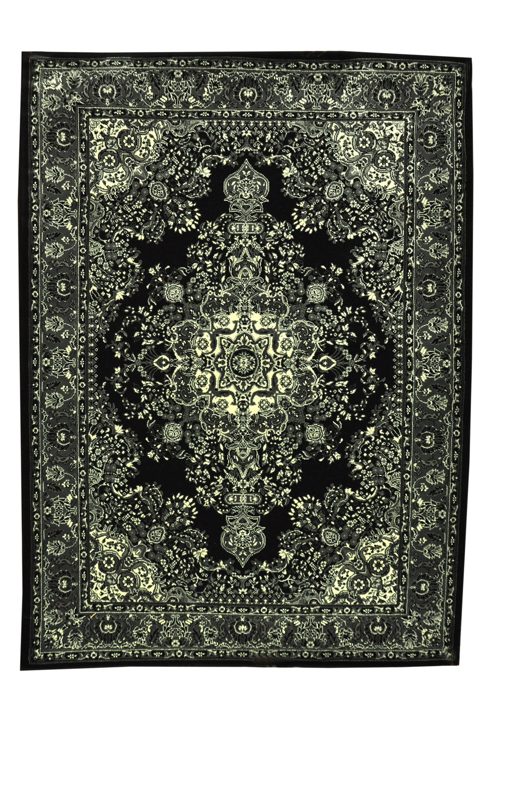 Black/Gray Area Rug - Rug Tycoon