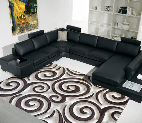 B04 Brown Area Rug