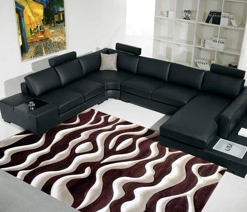 B10 Brown Area Rug