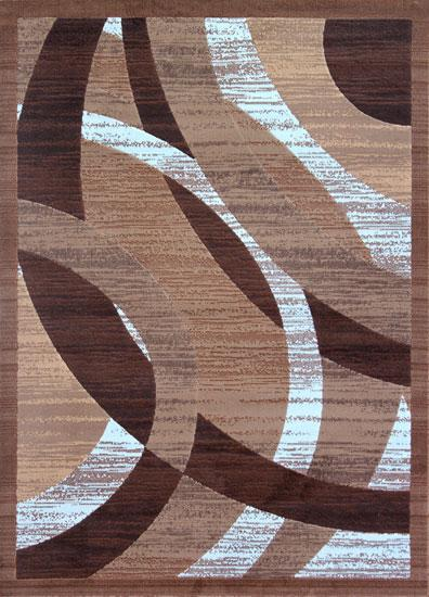 Brown/White Area Rug - Rug Tycoon