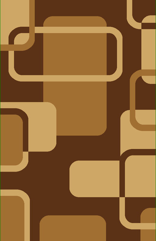 D604 Brown Area Rug