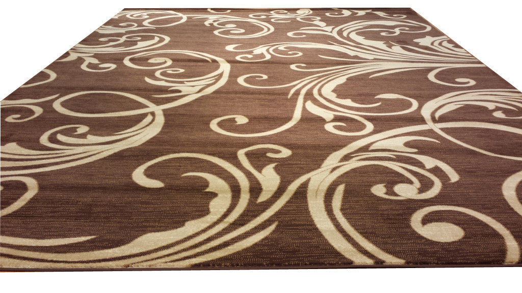 D608 Brown Area Rug