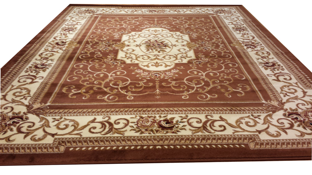 D616 Brown Area Rug