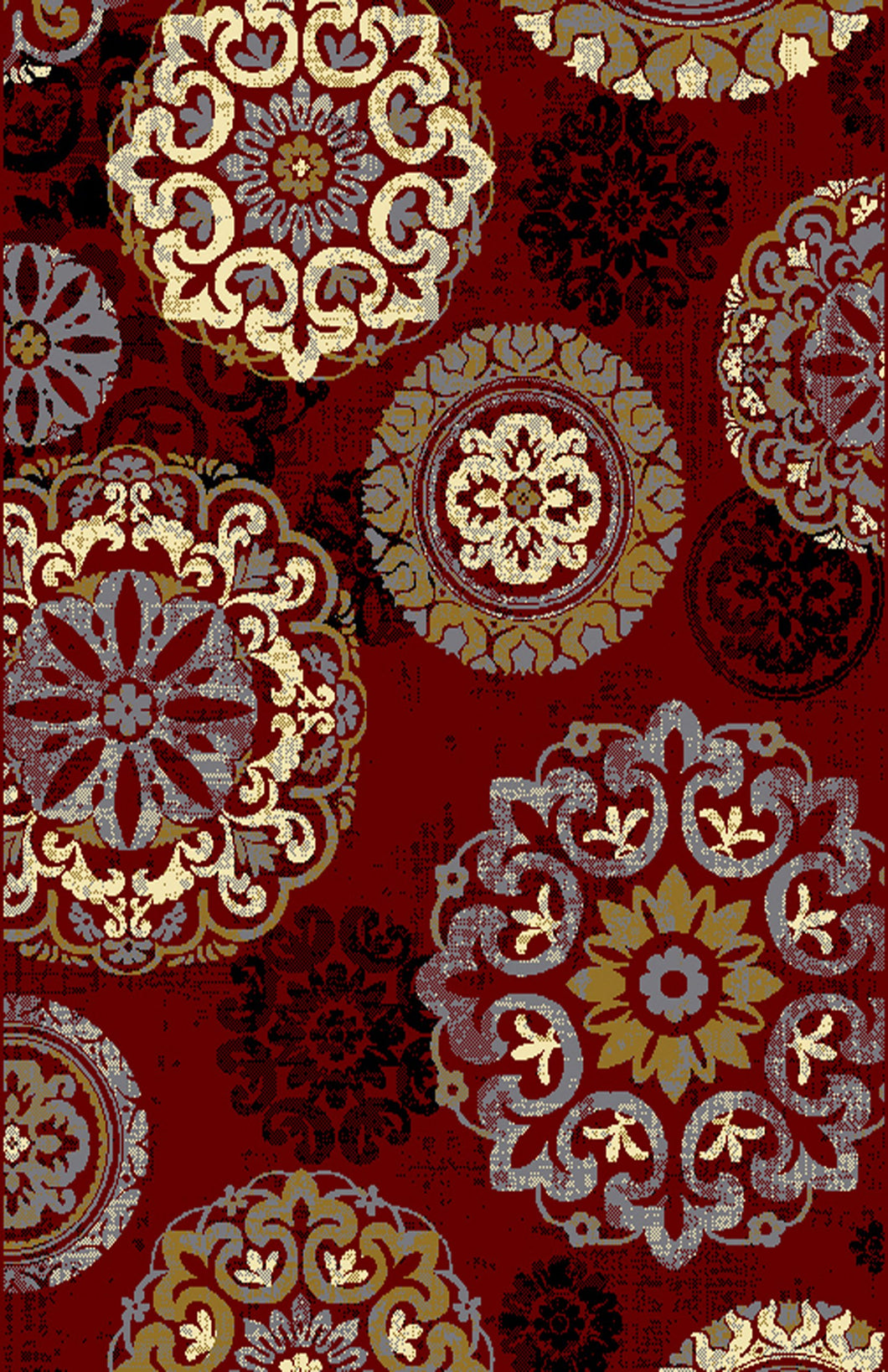 Adkins Red/Brown Area Rug - Rug Tycoon