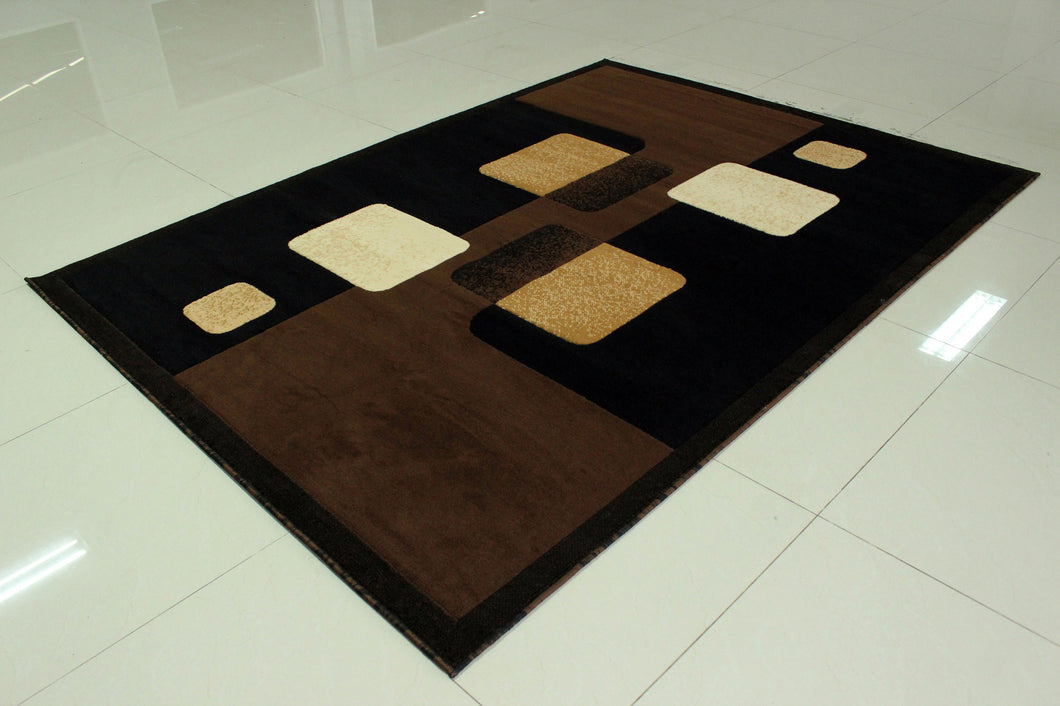E511 Brown Area Rug
