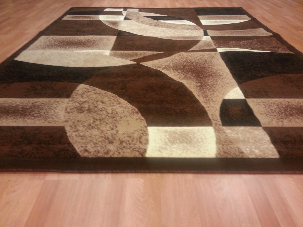 E512 Brown Area Rug