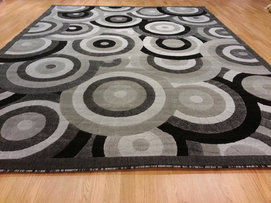 E513 Dark Grey Area Rug