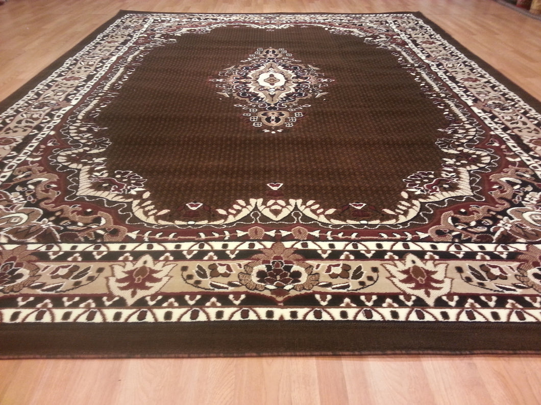 E518 Brown Area Rug