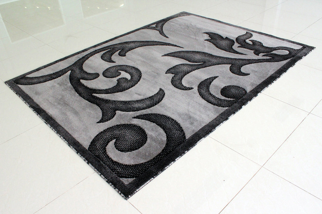 E519 Dark Grey Area Rug