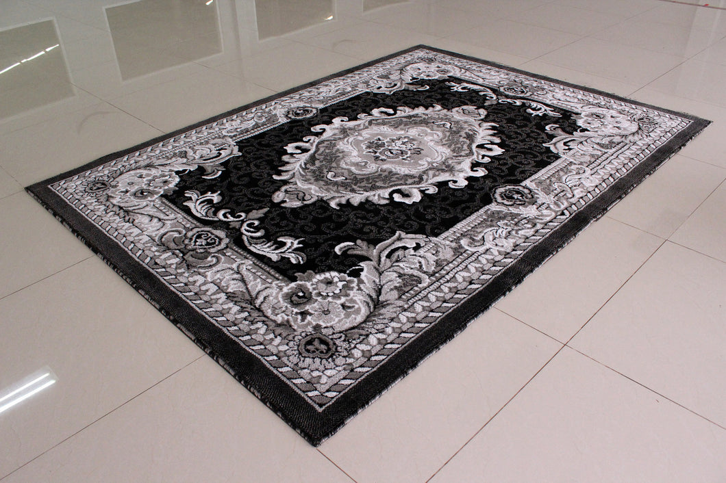 E521 Dark Grey Area Rug