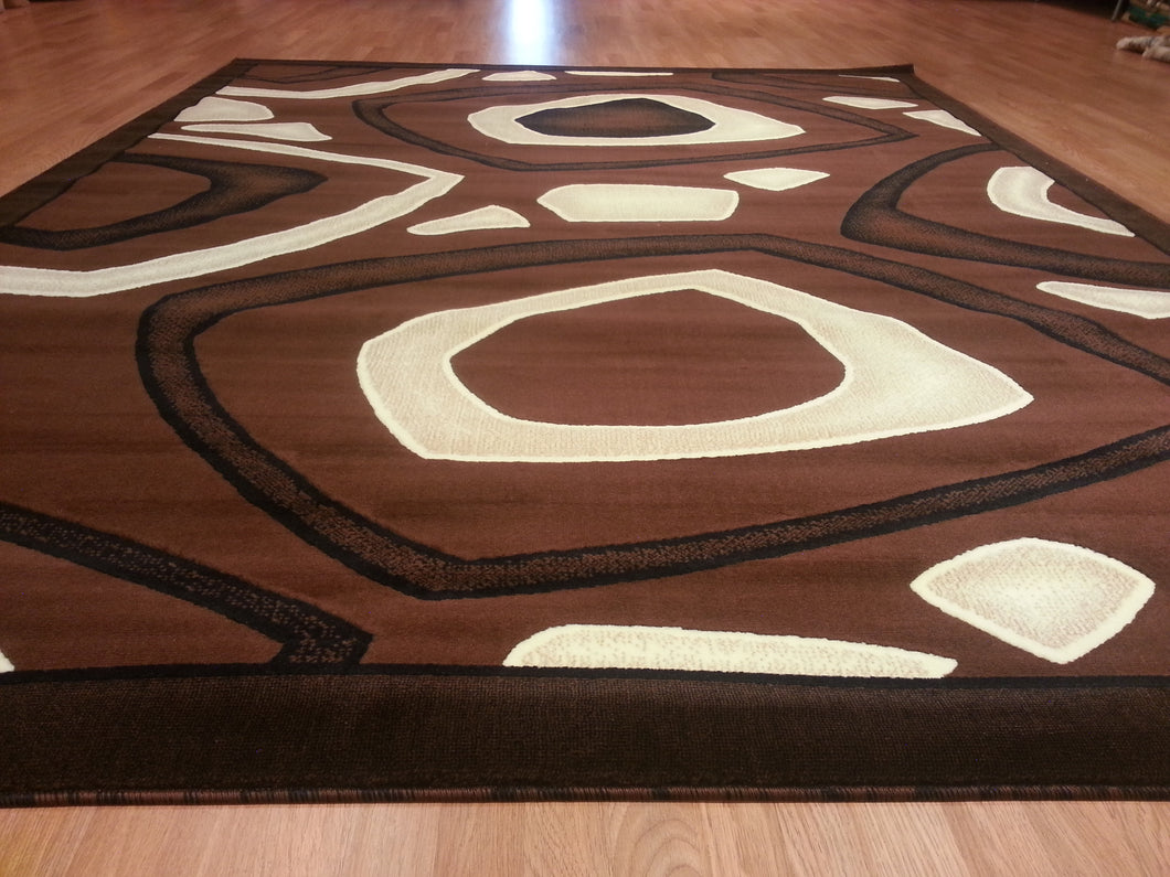 E522 Brown Area Rug