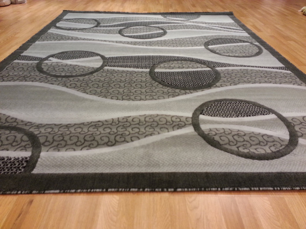 E523 Dark Grey Area Rug