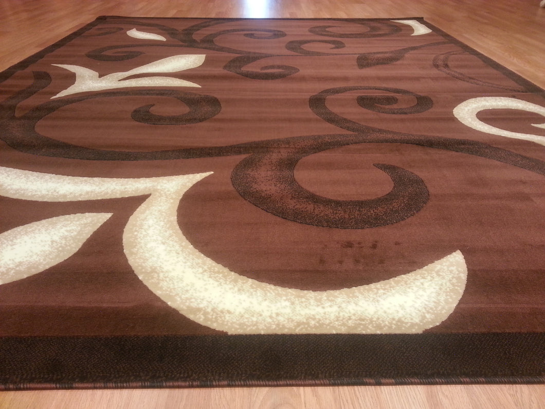 E525 Brown Area Rug
