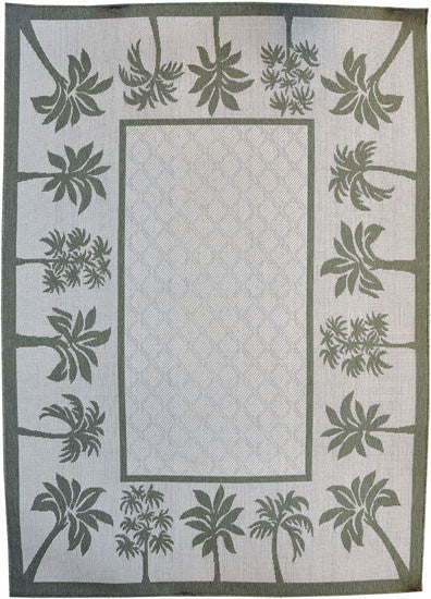 H06 Green Area Rug