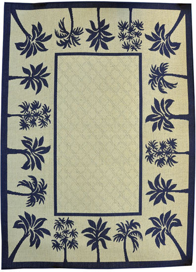 H06 Navy Blue Area Rug