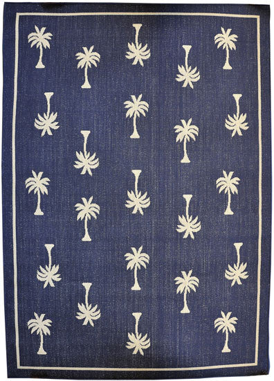H08 Navy Blue Area Rug