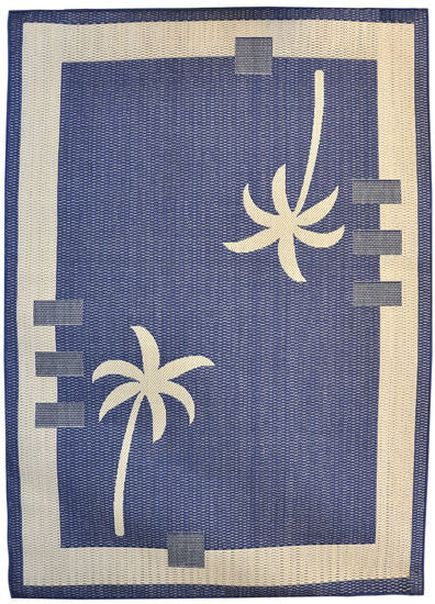 H09 Navy Blue Area Rug