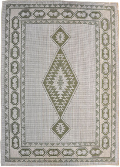H10 Green Area Rug