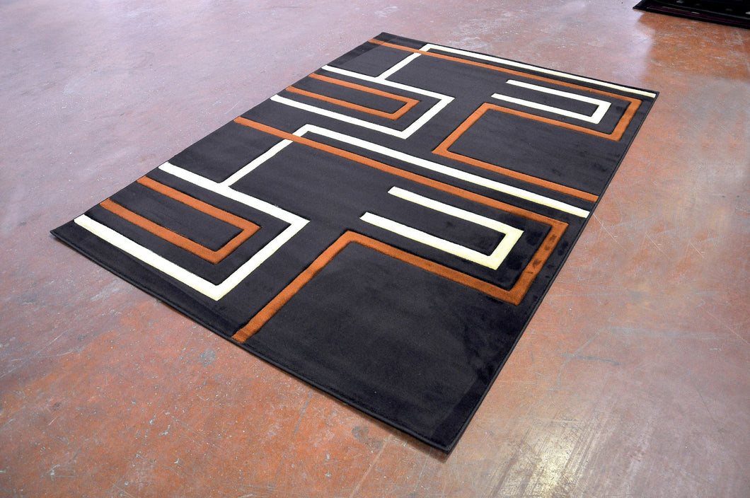 J701 Brown Area Rug
