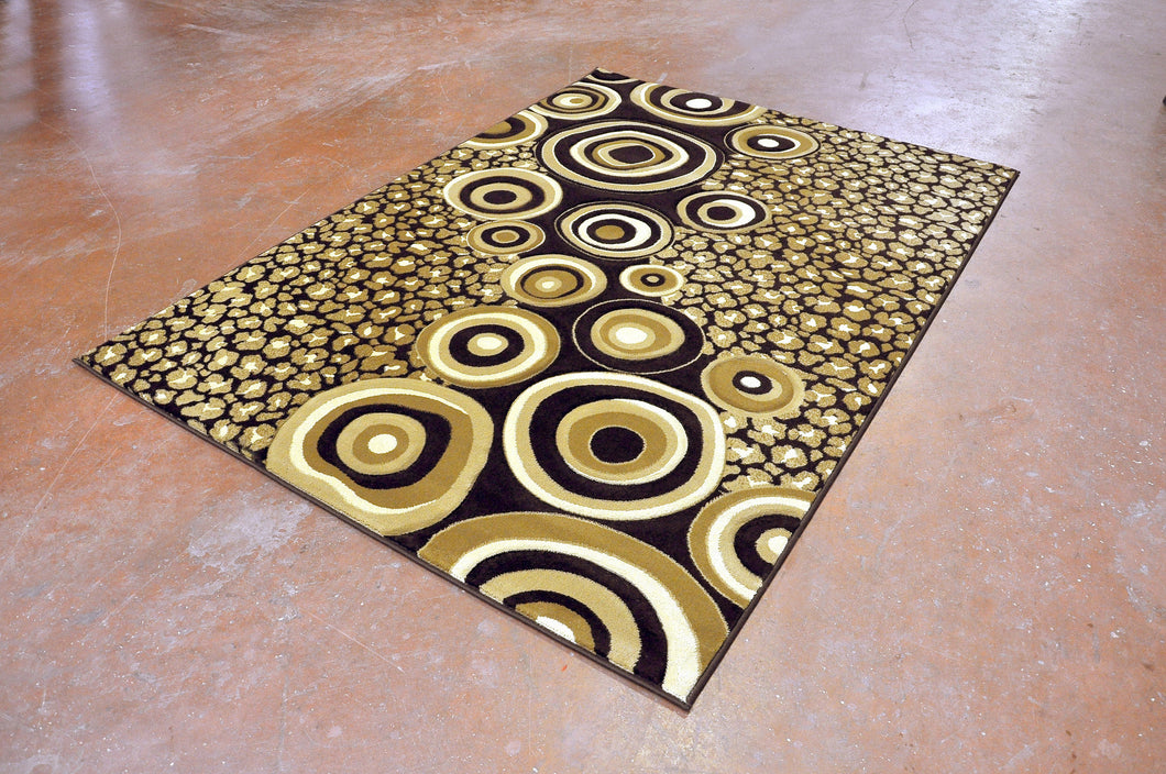 J714 Brown Area Rug