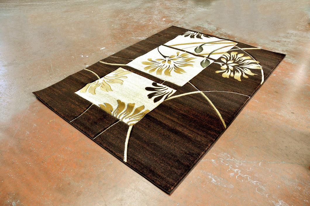 J722 Brown Area Rug