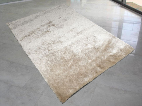 LX Solid Beige Area Rug