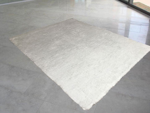 LX Solid White Area Rug