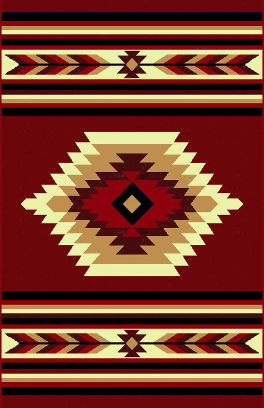 NS3 Red Area Rug