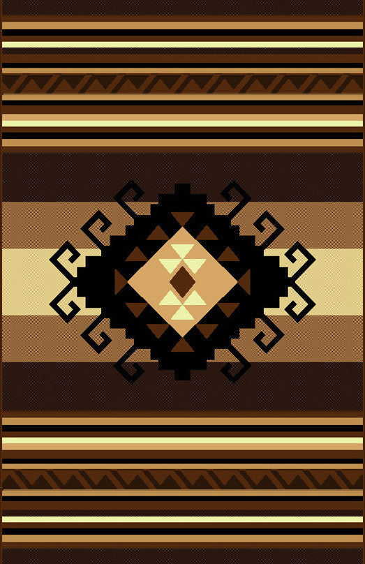 NS4 Brown Area Rug