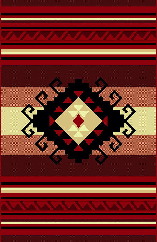 NS4 Red Area Rug