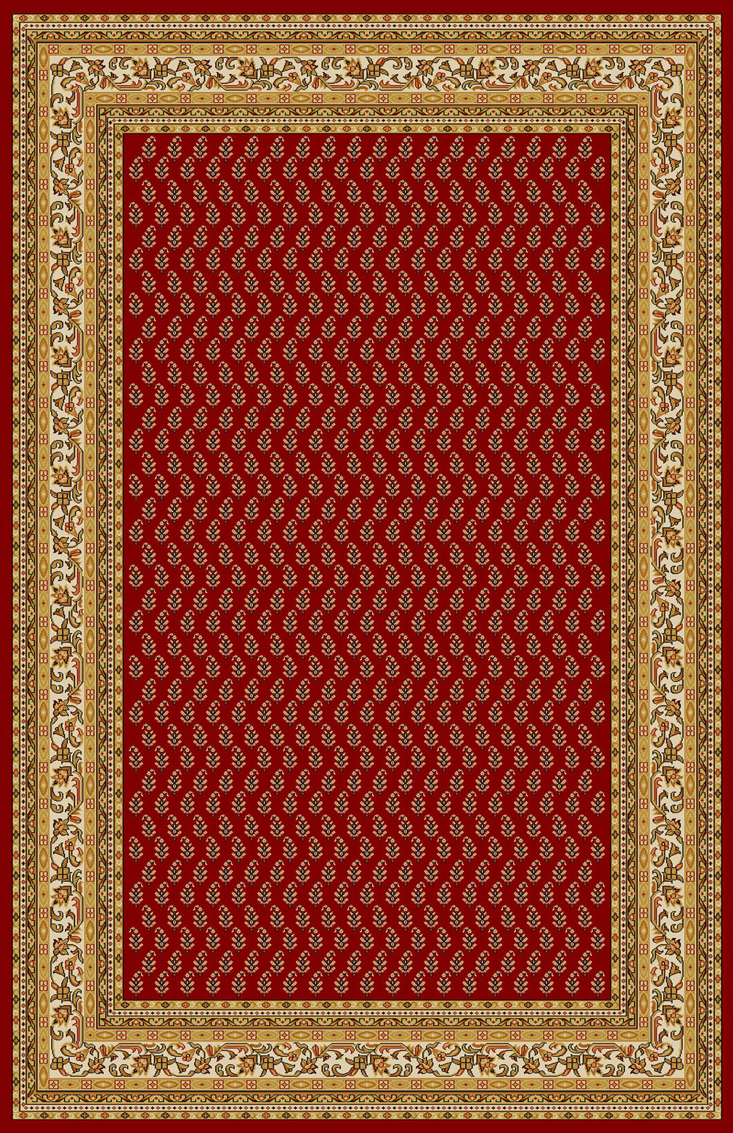 Amatrudo Red Area Rug - Rug Tycoon