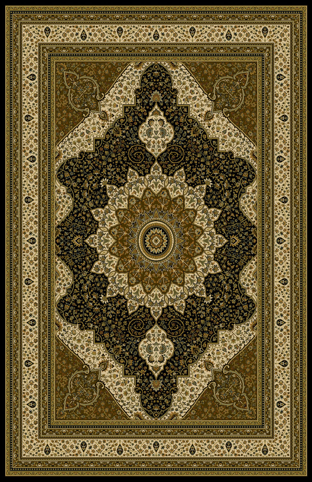 Andress Black/Brown Area Rug - Rug Tycoon