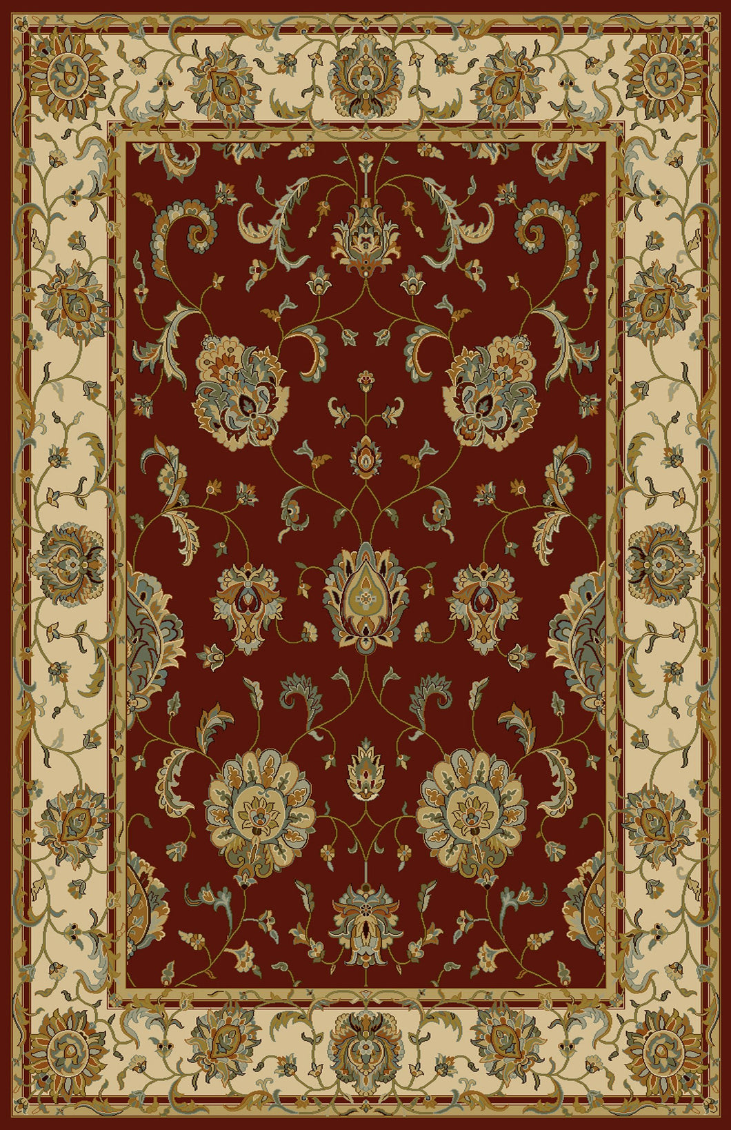 Floressa Red Area Rug